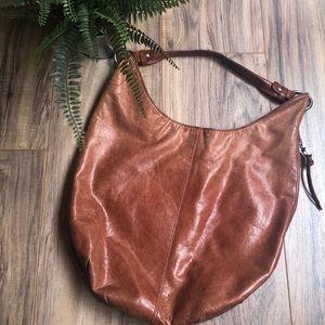 HOBO hobo shoulder bag brown leather well loved